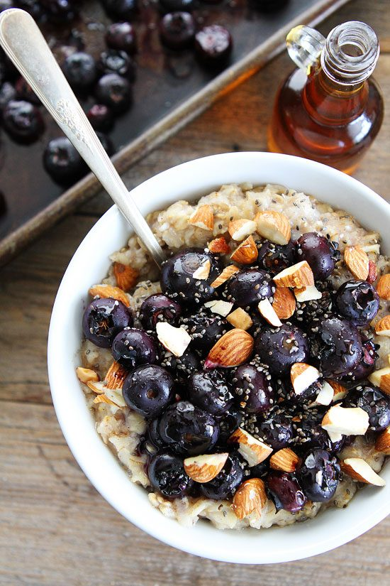 Maple Roasted Blueberry Almond Oatmeal